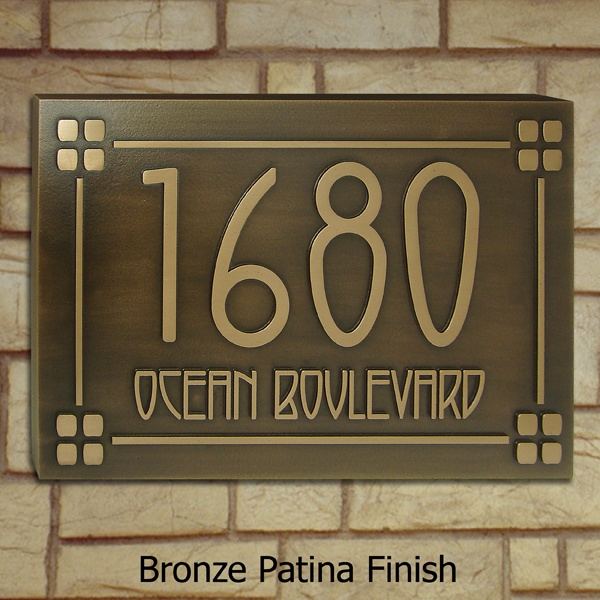 The Morris - American Craftsman Style Address Number Plaque