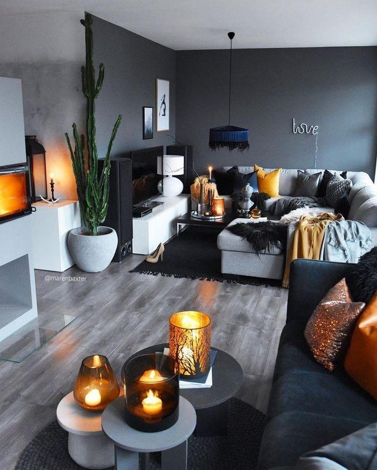 ✔ 57 graue Designs für kleine Wohnzimmerwohnungen, die fantastisch aussehen 24