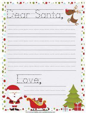 Letter To Santa Templates: 16 Free Printable Letters For Kids To Send To Father Christmas | The Huffington Post