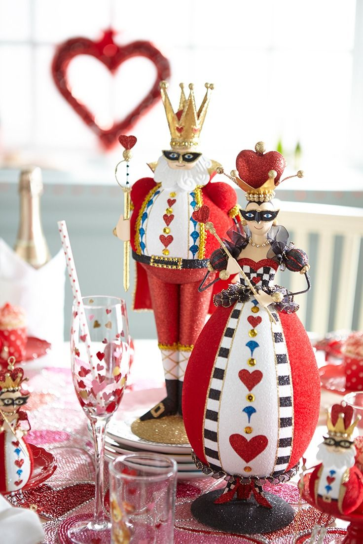 Pier 1's Glitter Queen of Hearts has expanded her empire and claimed your home as part of her realm. Whether she's the center of attention atop your table or stands tall on your mantel or accent table, she reigns supreme.