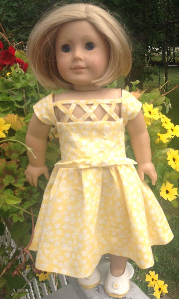 A personal favorite from my Etsy shop https://www.etsy.com/ca/listing/557320831/summer-dress-for-dolls-such-as-american