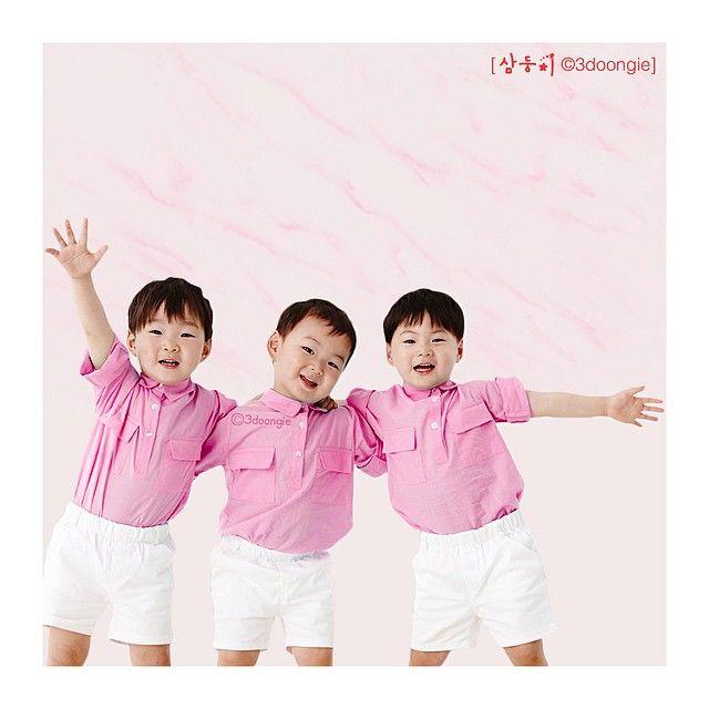 Daehan, Minguk, Manse | 3doongie Instagram Update (Triplets in Pink)