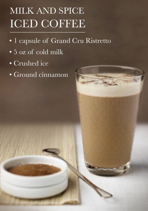This Iced Coffee recipe is milk, spice, and everything nice! Made with rich Nespresso Grand Cru, the classic flavor combination is sure delight your senses.