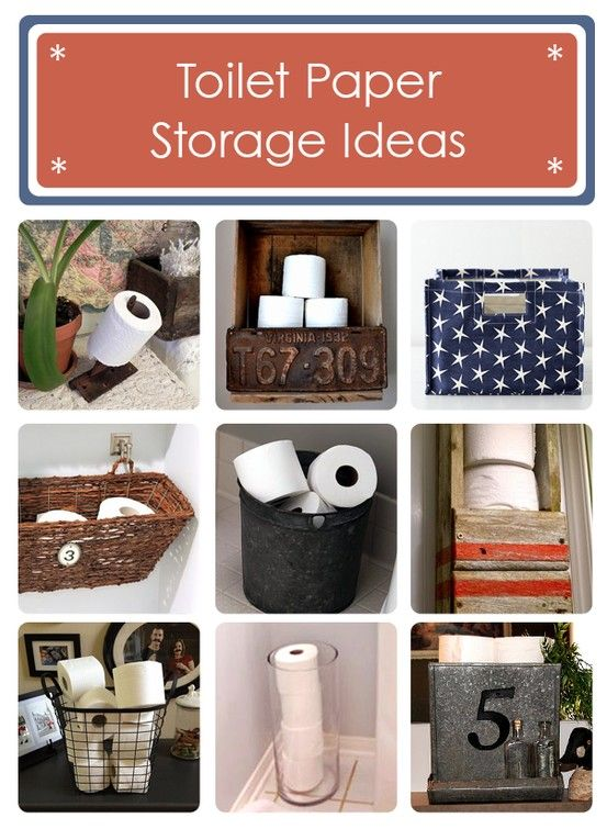 16 cool toilet paper storage ideas for your bathroom!