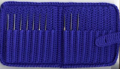 Steel Crochet Hook Case free pattern by Priscilla Hewitt - holds 16 hooks, a complete set from 00 to 14