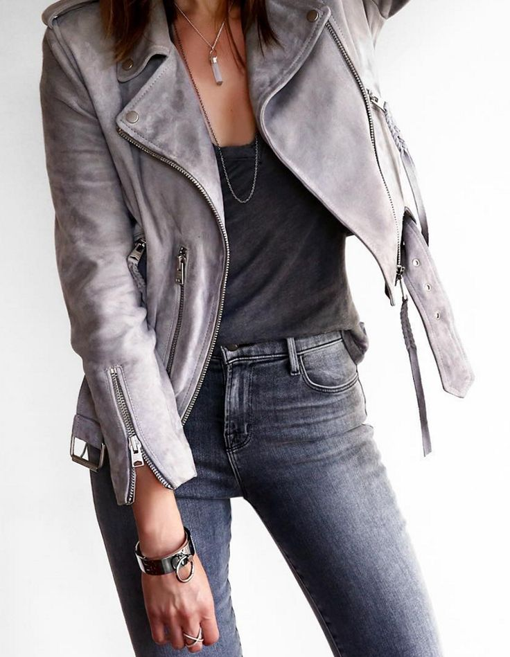 Love this Gray Leather Jacket