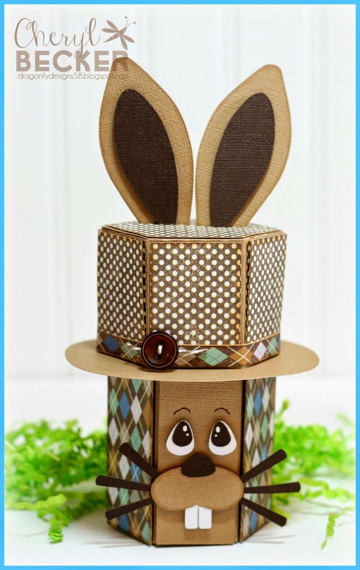 Craft hat boxes - Dragonfly Designs A Boy Bunny Top Hat Box