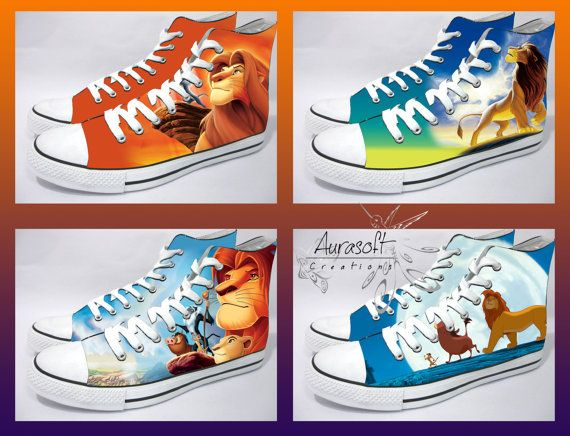 Hey, I found this really awesome Etsy listing at https://www.etsy.com/listing/194055055/custom-painted-converse-style-lion-king