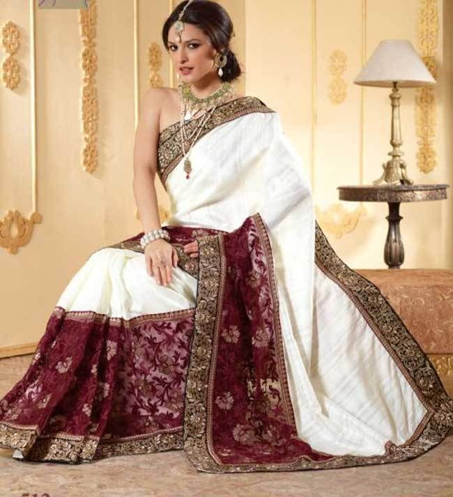 Wedding White Sarees Online: 17 Best Images About Wedding Sarees On Pinterest