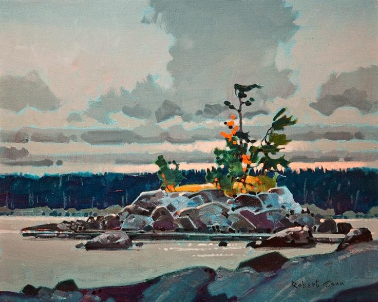 Islet in Klewnuggit Marine Park, Grenville Channel, B.C., by Robert Genn