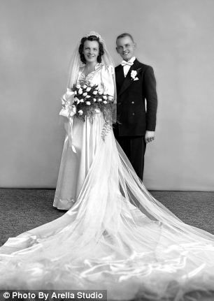 Eddie Slovik and his wife Antoinette on their wedding day in Detroit. He was executed on 31 January 1948 for desertion.