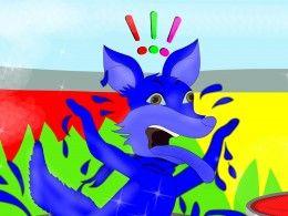 The jackal turns blue! The blue jackal - a small story for kids