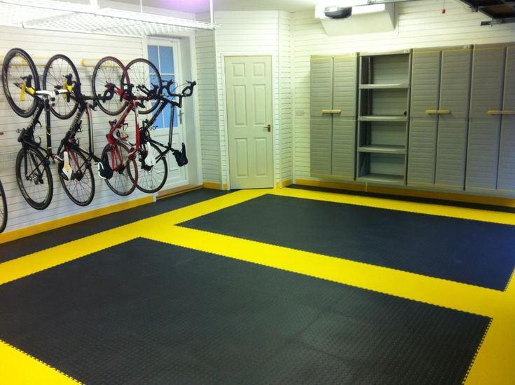 Flooring for garage gym with