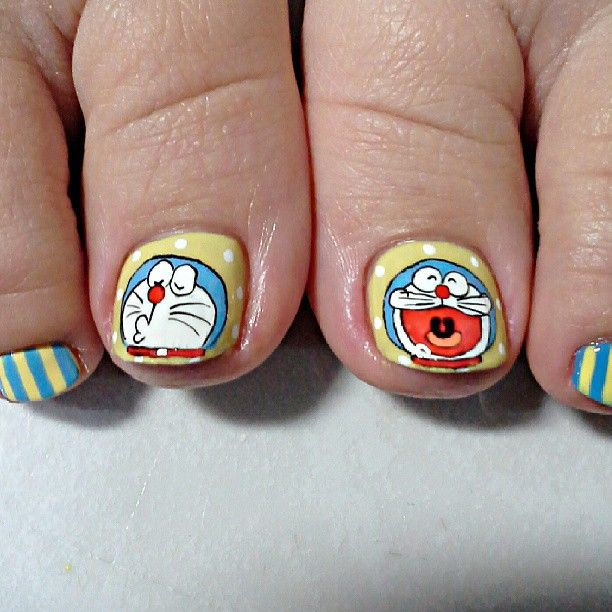 Doraemon by nail28tsenwei #nail #nails #nailart