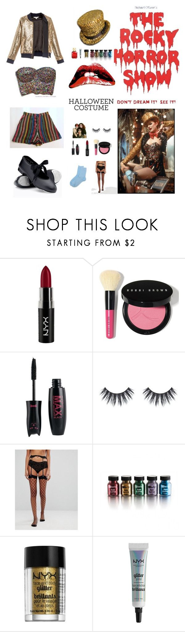 """Columbia Rocky Horror Costume"" by indieflowergirl ❤ liked on Polyvore featuring NYX, Bobbi Brown Cosmetics, ASOS and Michael Kors"