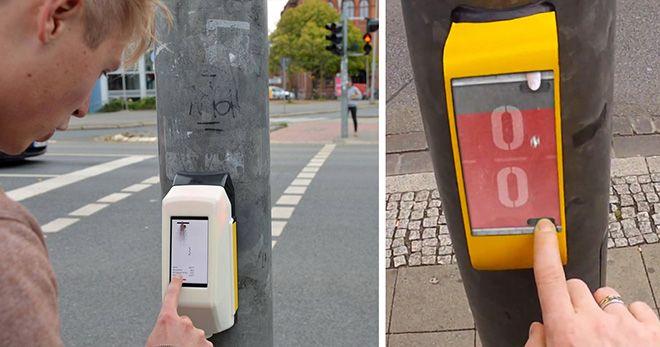Actiwait (Street Pong) - L'attesa creativa al semaforo. Incentivare il lato ludico durante le attese ai semafori stimolando le interazioni spontanee.