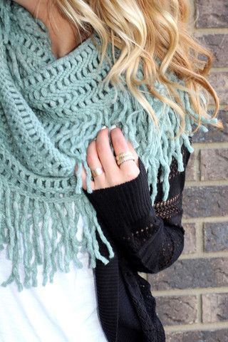 Fringe Infinity Scarf | UOIOnline.com: Women's Clothing Boutique