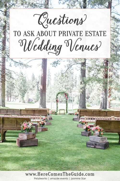 Questions to Ask a Private Estate Wedding Venue | Here Comes The Guide