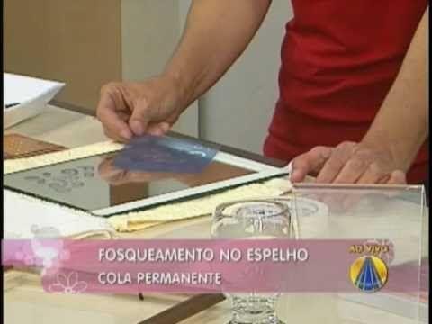 Fosqueamento em vidro ou espelho   Artesanato Sabor de vida - YouTube