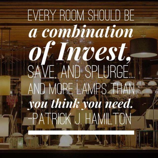 14 best interior designer quotes about lighting images on. Black Bedroom Furniture Sets. Home Design Ideas