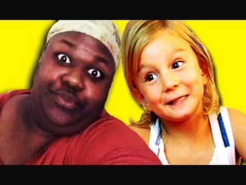 "These are the funniest videos I've ever watched. Kids react to popular youtube videos... this one's ""sittin on tha toilet."""