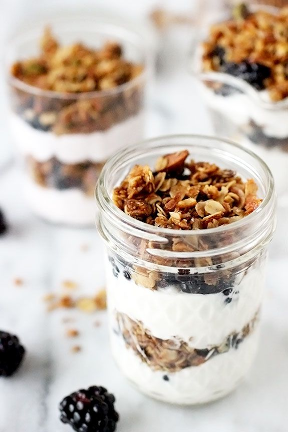 Yogurt parfaits with homemade granola