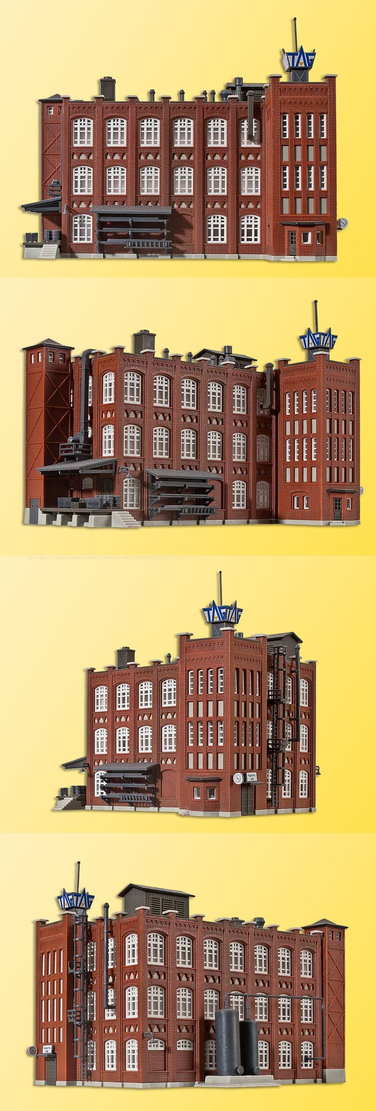 Buildings Tunnels and Bridges 120273: 36770 Kibri Z Gauge Kit Of A Factory Building Of Wilhelminian Time - New -> BUY IT NOW ONLY: $44.99 on eBay!
