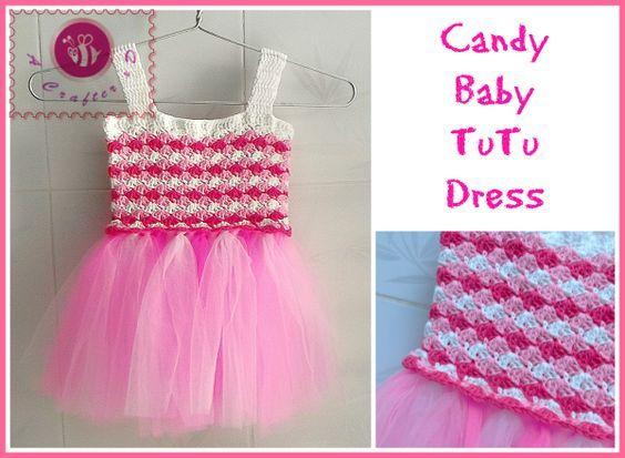 Crochet Candy baby tutu dress with free Pattern
