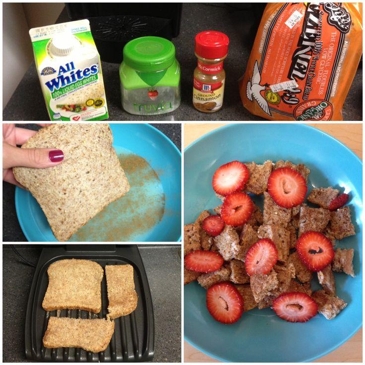 HEALTHY FITNESS FOOD - health Ezekiel bread french toast. FitnessBarbie blog