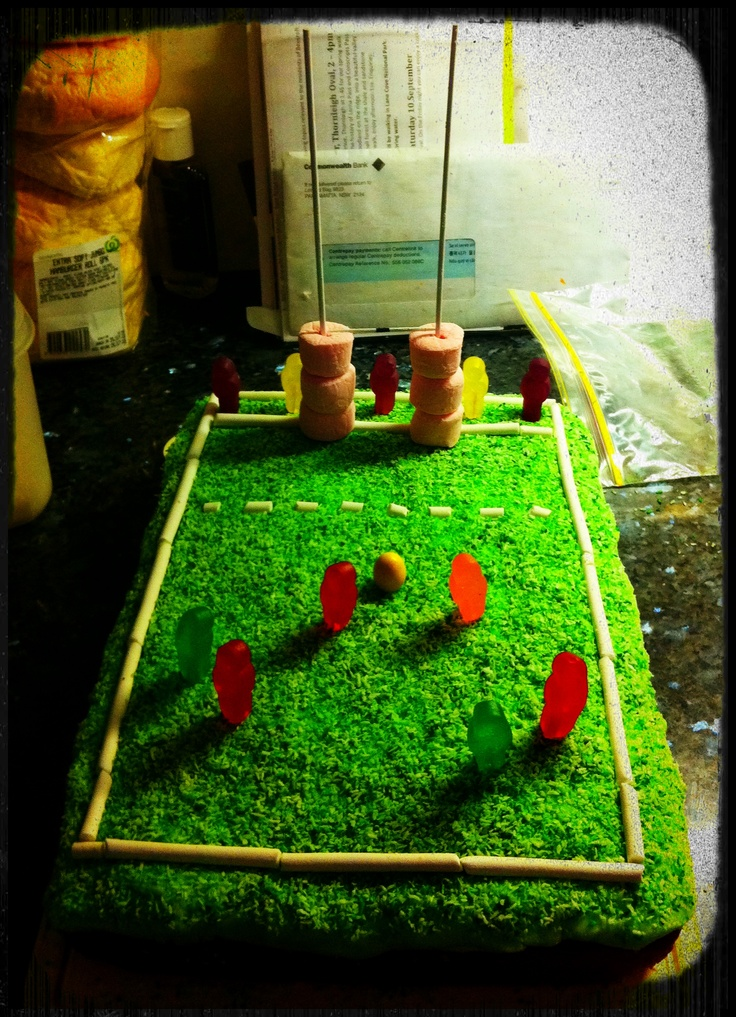 Rugby Cake for my Dad's birthday!
