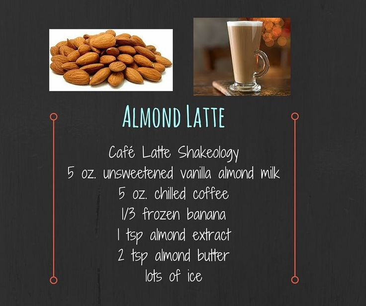 Almond Latte - Delicious recipe for the new Shakeology flavor, Cafe Latte! #fitfoodiemomma #almondlatte #shakeology #cafelatteshakeology #cafelatteshakeologyrecipe