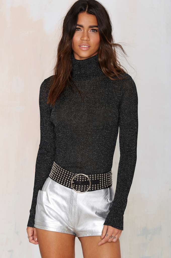 Nasty Gal Sparks Metallic Sweater | Shop Clothes at Nasty Gal!