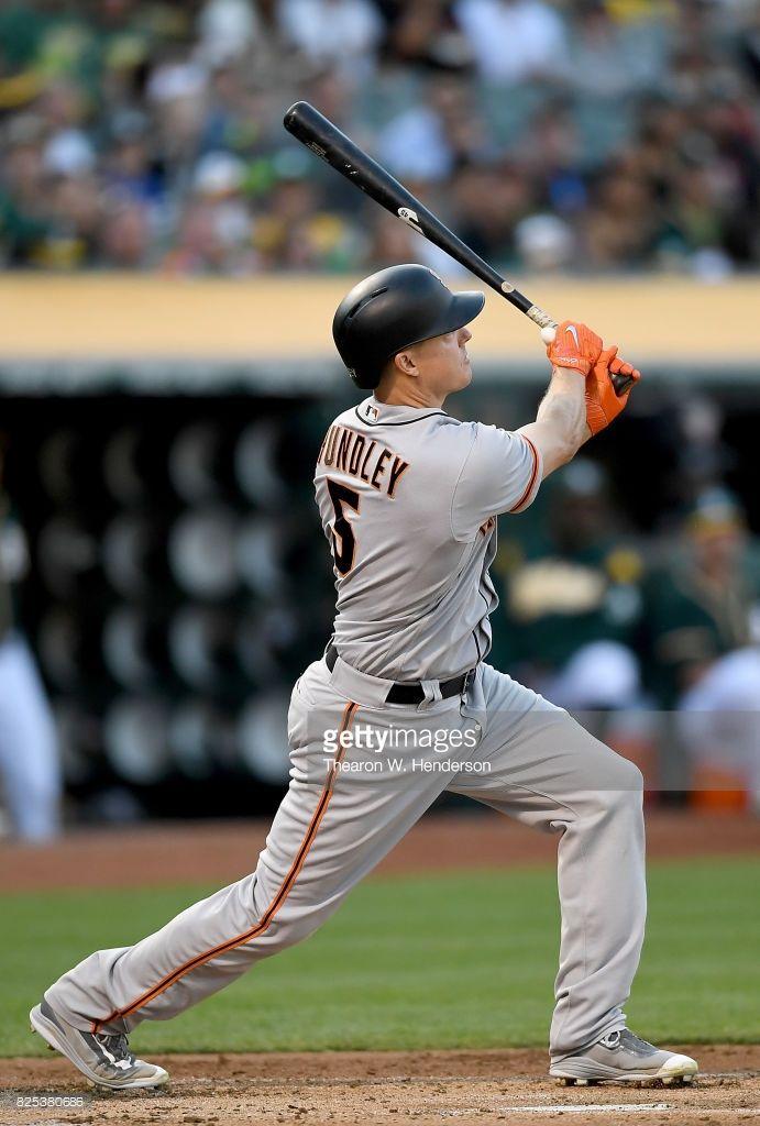 News Photo : Nick Hundley of the San Francisco Giants swings...