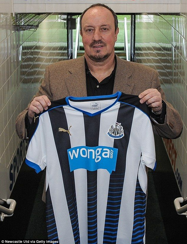 March 11th. 2016: Rafa Benitez poses with a Newcastle United shirt after being confirmed as the club's new manager.following tha sacking of Steve McClaren