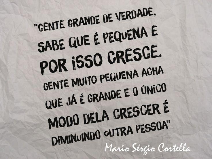 O Prof. Mario Sérgio Cortella com essa frase traduziu da melhor forma o conceito de HUMILDADE.  Se buscarmos o significado da palavra ...