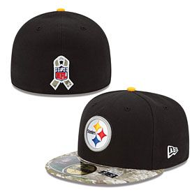Get this Pittsburgh Steelers Salute to Services 5950 Fitted Cap at ThePittsburghFan.com