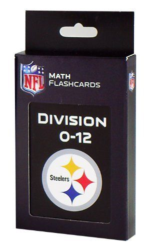 NFL Pittsburgh Steelers Division Flash Cards by KE Specialties. $10.99. Looking for an exciting way to help your child improve their division facts? These large, easy to handle flash cards have a brightly colored team logo on one side and a division problem on the other. They can be a great activity for the whole family or used for independent work for your child. In no time, your child will be understanding their math facts like the pros.