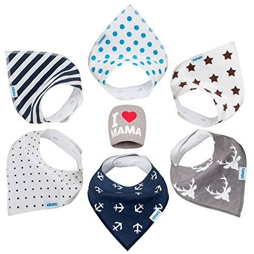 Bandana Baby Bibs for Boys and Girls, with Snaps, 6 Pack Gift Set for Feeding, Drooling, Teething, PLUS FREE I LOVE MAMA Hat - BEST BABY SHOWER GIFTS for Mom, for newborn Baby, CUTE and Soft bib. For product info go to: https://all4babies.co.business/bandana-baby-bibs-for-boys-and-girls-with-snaps-6-pack-gift-set-for-feeding-drooling-teething-plus-free-i-love-mama-hat-best-baby-shower-gifts-for-mom-for-newborn-baby-cute-and-soft-bib/