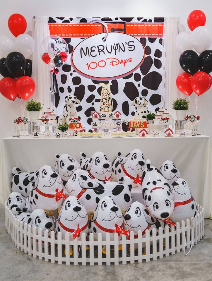 Dalmatians Baby Celebration Decorations Puppy Birthday Parties Kids Birthday Fun Unique Birthday Party Ideas