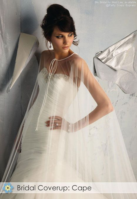 Bridal Cape: sleeveless outer garment that fastens around ...
