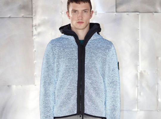 In 2012 Stone Island celebrated its 30th anniversary. Reflective knitwear.