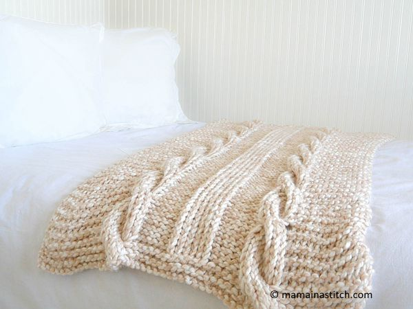 Endless Cables Chunky Knit Throw Pattern