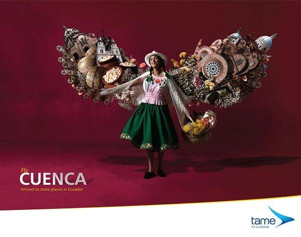 分享Tame航空宣传海报设计系列。tame-厄瓜多尔国营航空公司,主营国内航线,隶属厄瓜多尔军方。除了tame,国内航线还有ICARO、AEROGAL、CLUB…
