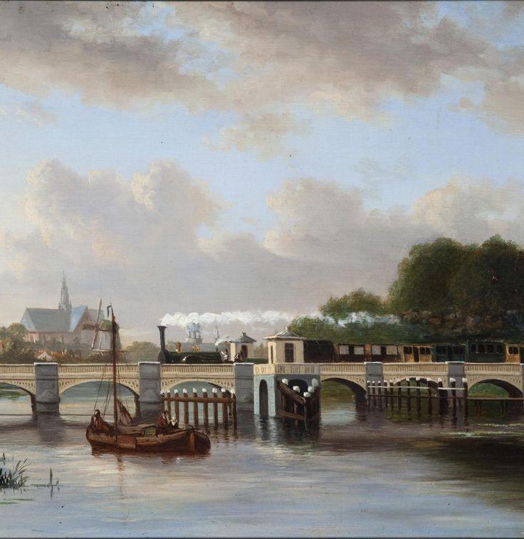 Bridge over the river Spaarne, Haarlem, The Netherlands