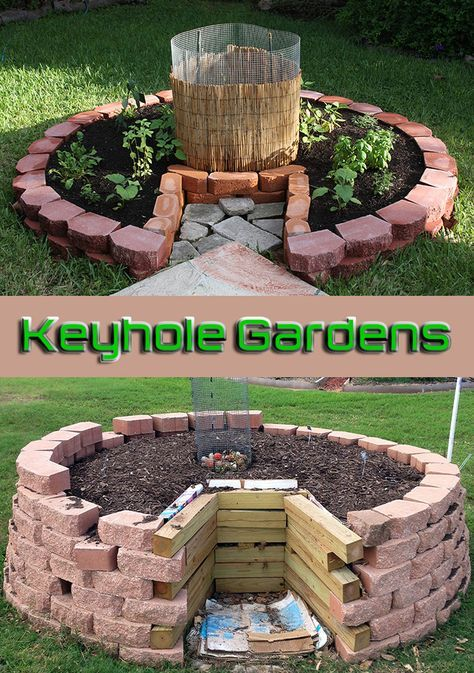 Keyhole Gardens: How to Make Keyhole Raised Bed | Jardin y Peces ...
