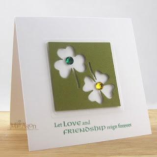 .: Card Idea, Irish Card, Scrapbook Card, Flower Card, Friendship Card, Cards Simple, Homemade Cards