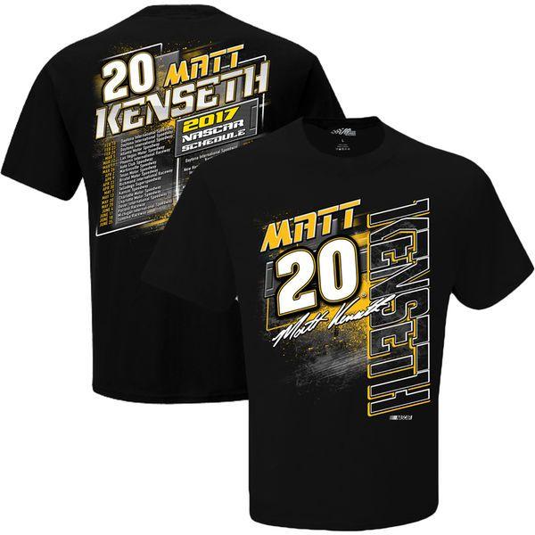 Matt Kenseth Joe Gibbs Racing Team Collection 2017 Schedule T-Shirt - $24.99