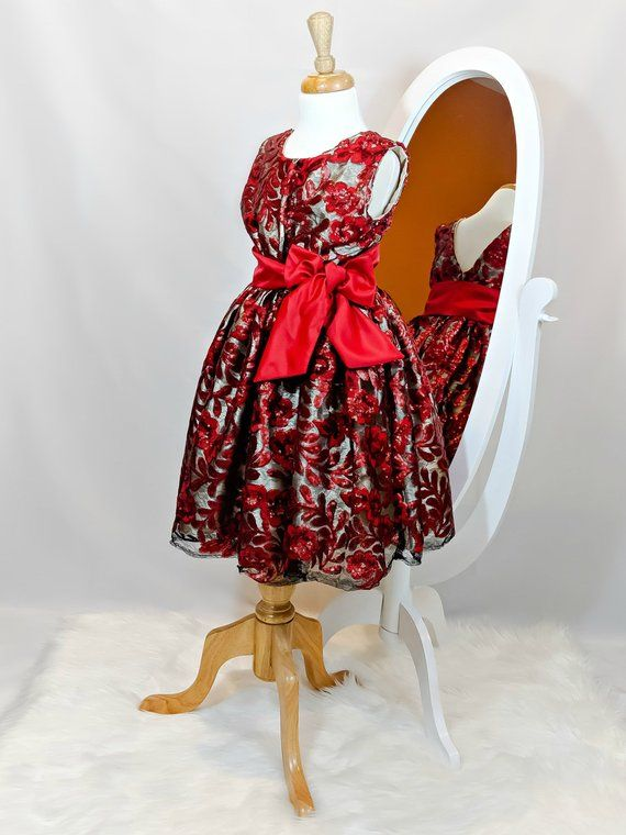 dfca564cefe10 Baby Girl Red Dress, Special Occasion Dress Girl, Girl Sequin Dress ...