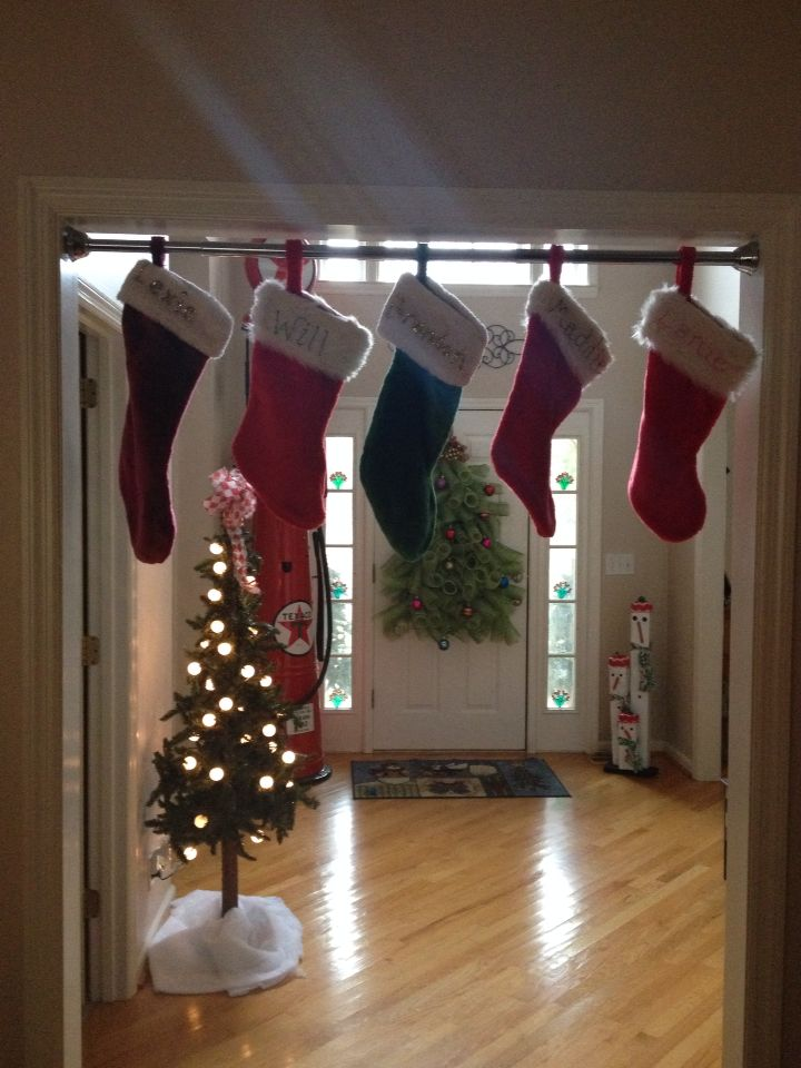 best 25 stocking hanger ideas on pinterest christmas stocking holders christmas stocking. Black Bedroom Furniture Sets. Home Design Ideas