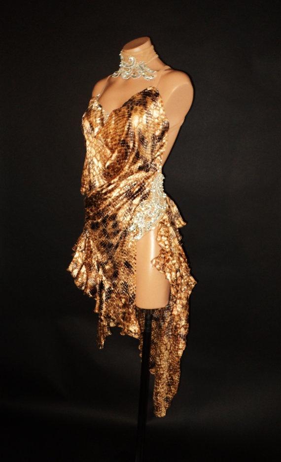 Ladies Latin Rhythym Dress by acdancewear on Etsy, $600.00
